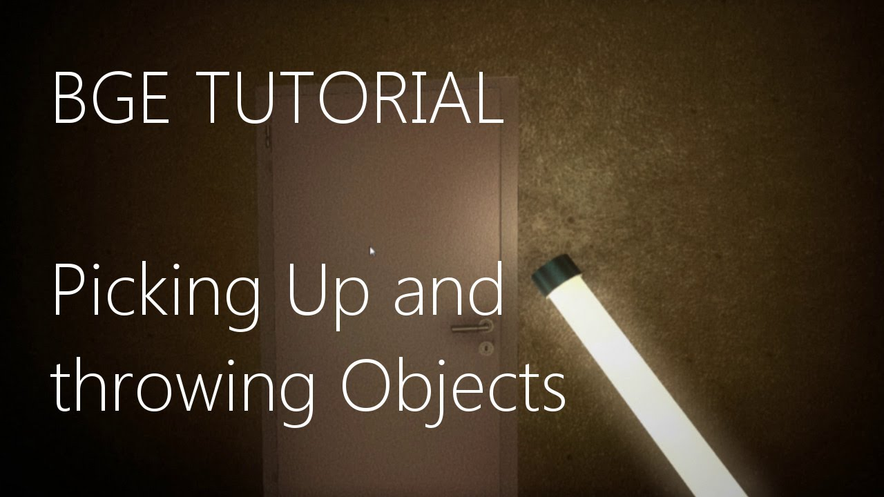 Blender Game Engine - Pick Up & Throw Objects (Tutorial)