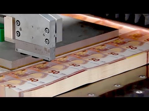 How Money Is Made - Making of the New 50 Euro (видео)