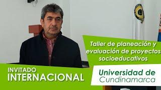 Invitado internacional habla de proyectos sociales