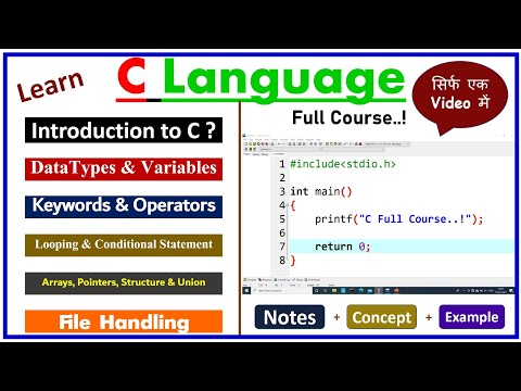 C Programming Full Course for Beginners (Hindi) | Learn Coding