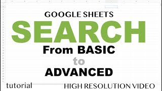 Google Sheets - Search,  QUERY function