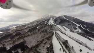 スキー場の空撮 DJI Phantom2 GoPro