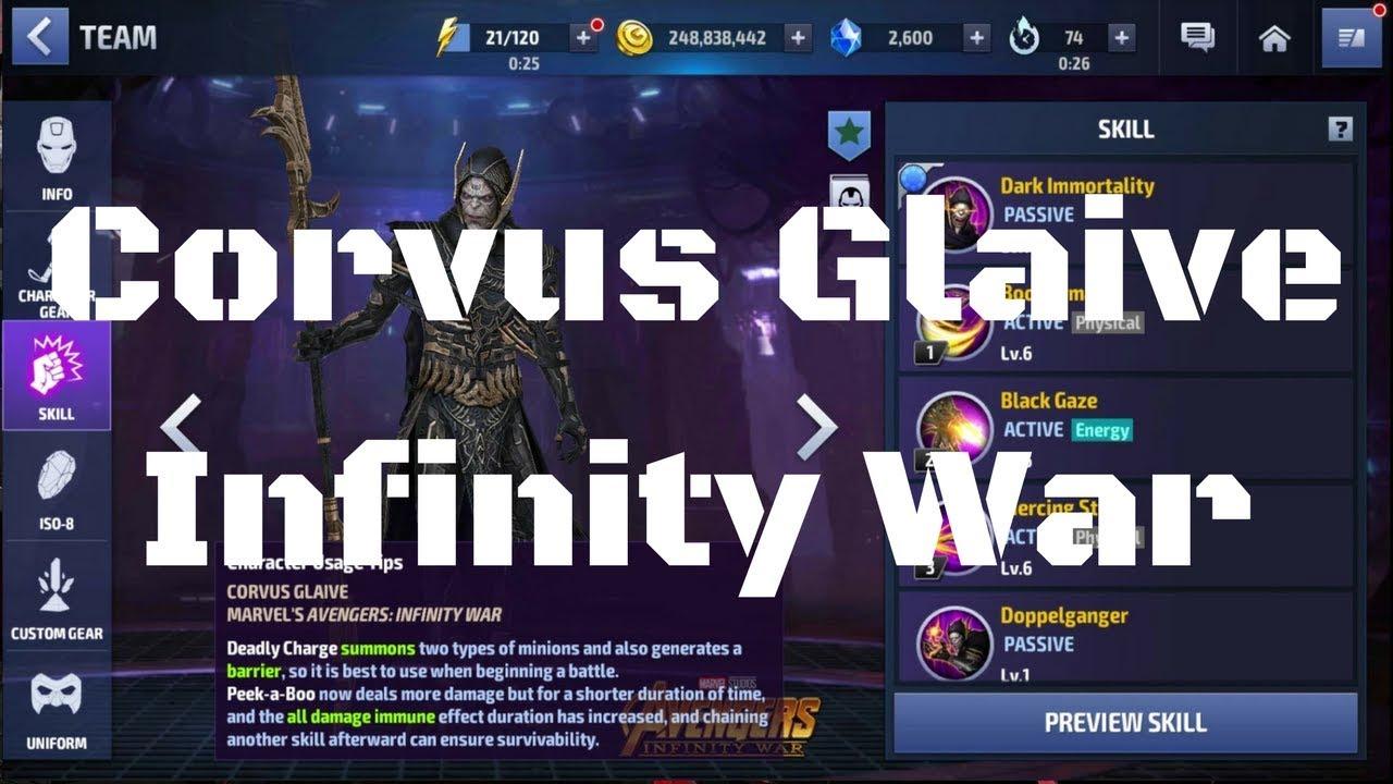 รีวิว Corvus Glaive ยู Infinity War
