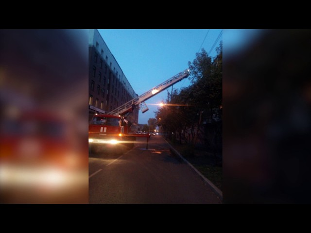 Ночью в Ангарске загорелась квартира.