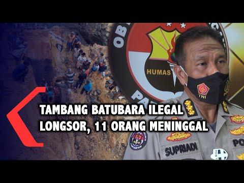 tambang batubara ilegal di muara enim longsor orang meninggal dunia