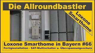 Loxone Smarthome - Fertiginstallation in Bayern #66 - SAT-Multischalter und Überspannungsschutz