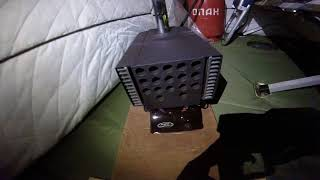 Теплообменник в палатку без аккумулятора