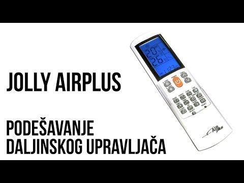 Jolly AirPlus univerzalni daljinski za klima uređaje - Podešavanje