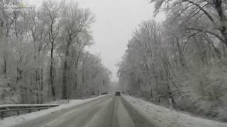 Vožnja po zasneženih cestah Prlekije