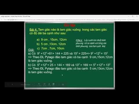 Toán 7 (Hình): Ôn tập định lý Pytago