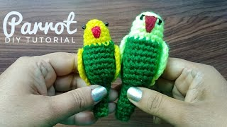 How To Make Crochet Parrot | easy and simple woolen parrot | step by step DIY Tutorial |