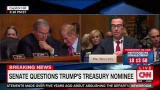 Menendez Defends Victims of Mnuchin Foreclosure Machine during Treasury Nom Hearing