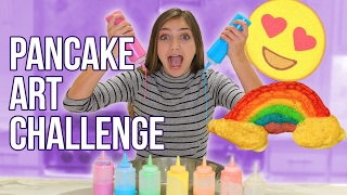 The PANCAKE ART Challenge | Kamri Noel & Kenni