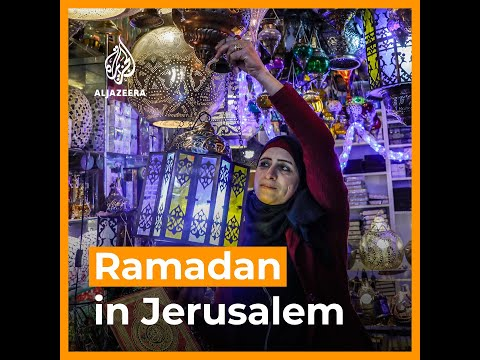 Ramadan decorations in occupied East Jerusalem as Palestinians welcome holy month | AJ #shorts