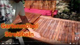 Teak Gartenmöbel streichen mit Teakholz Öl
