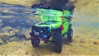 RC CAR SCX10 II(T-Rock) Jeep Wrangler Valley Diving Rock Crawling