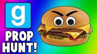 Gmod Cheeseburgers, Scarecrows, and Axes (Garry's Mod Prop Hunt Funny Moments)