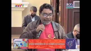 Oscar Figuera (PCV) presenta observaciones a artículo de la Ley de Ciudades Comunales, 22 junio 2021