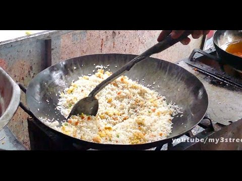 EGG FRIED RICE - FAST FOOD RECIPE - 4K VIDEO - ULTRA HD VIDEO