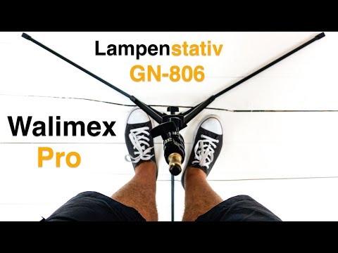 Walimex pro GN-806 Lampenstativ -Steht nicht im weg, dank Bodennaher Beinstellung
