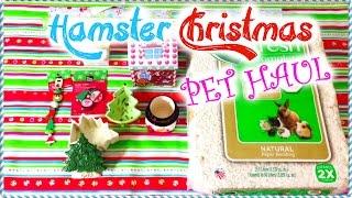 HAMSTER Christmas Pet Haul | 2014