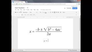 How to Insert Equations into Google Docs
