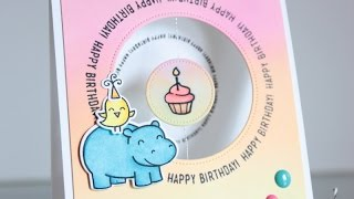 Spinning Happy Birthday Card + Blending With Dye Inks