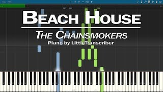 The Chainsmokers   Beach House (Piano Cover) Synthesia Tutorial By LittleTranscriber