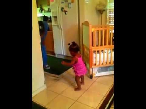 Baby Mykaylas first steps