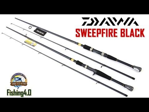 Cần Câu Lure Daiwa Sweepfire Black - new 2021 - 702MH - Máy đứng Máy Ngang