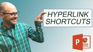 How to hyperlink in PowerPoint (w/ Keyboard Shortcuts)