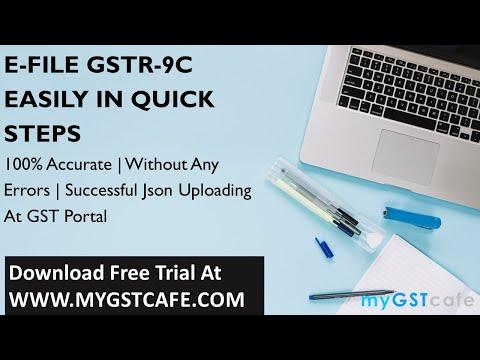 GSTR-9C Filing at GST Portal - 2 Mins Short Demo