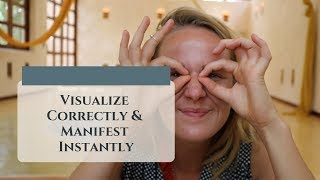 LAW OF ATTRACTION Visualize Correctly- 1st Person Perspective (Manifest INSTANTLY)