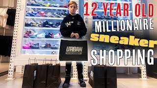 12-Year-Old Millionaire Goes Sneaker Shopping