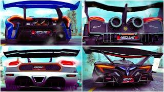 Asphalt 8, Four Multiplayer races with my fav Super Spoiler S-Class cars