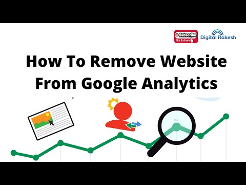 How to remove website from google analytics
