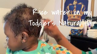 Rice Water Growth on my Toddler Son's Hair!! | Rice Water for Fast & Extreme Hair Growth