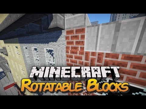 Rotatable Blocks in Minecraft - Mod Showcase