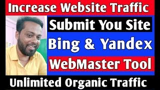 How To Submit and Verify You website Bing and Yandex Webmaster Tools Hindi