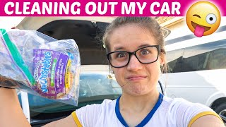 CLEANING OUT MY CAR... nasty