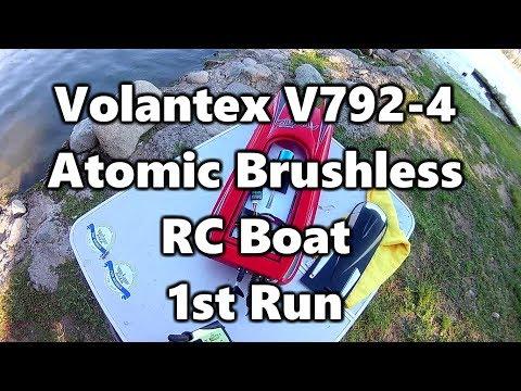 Volantex V792-4 Atomic Brushless RC Boat 1st Run