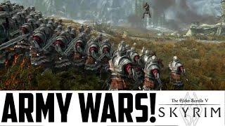 SKYRIM MODS - ARMY WARS!! (XBOX ONE) 100 Imperials vs Stormcloaks! W00t