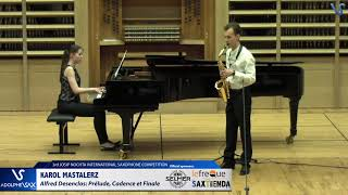 Karol Mastalerz plays Prelude, Cadence et Finale by Alfred Desenclos
