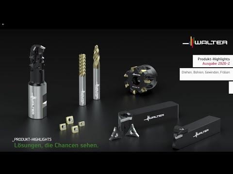 Präzisionswerkzeuge Produkt Innovationen 2020-2 Drehen, Bohren, Gewinden, Fräsen - Walter Tools