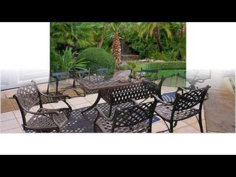 Diseño de muebles de patio de hierro