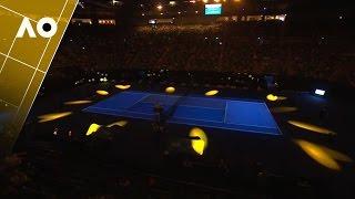 Rod Laver Arena light show - Night 1 | Australian Open 2017