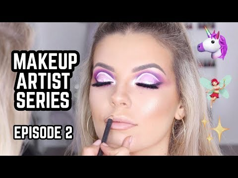 Makeup Artist Series Ep • 2 🦄 Pink/Purple Fairy Glam 🧚♀️ Jasmine Hand