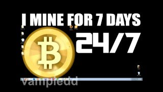 24HR BITCOIN MINING EXPERIMENT