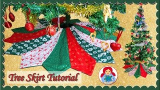 DIY | Holiday Tree Skirt + FREE PATTERN!! • Sami Doll Tutorials