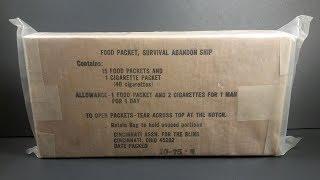 1975 Food Packet Survival Abandon Ship MRE Review Emergency Ration Tasting Test